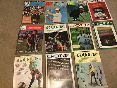 Lot of 11 Vintage Golf Magazines 1960's