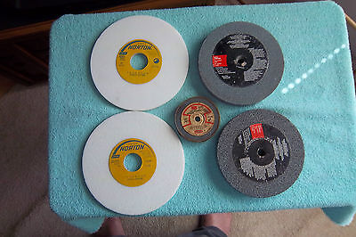 Lot Of 5 New Grinding Wheels 2 Norton,  2 Power Tool, 1 Craftsman