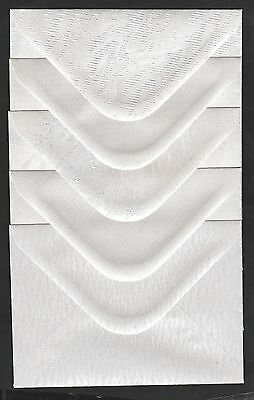 50  C6  PEARL WHITE SHIMMER ENVELOPES TEXTURED   120gsm  114 x 162mm  4.4x 6.3""