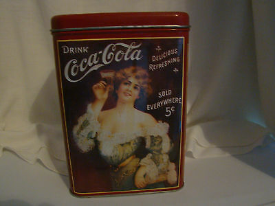 Coca Cola 9 Inch High Tin with Victorian Ladies - Used