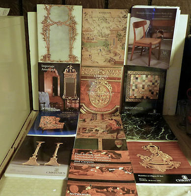Lot of 13 Furniture & Decorative Arts  Sotheby's and Christies Auction Catalogs