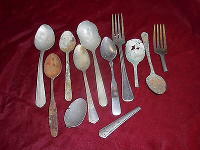 spoons, antique, lot of various finds, decorative,  Art supply
