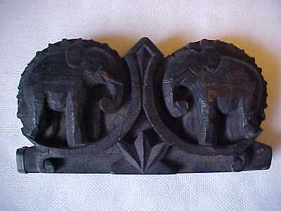 Teak Wood Scale, Elephant design, Handmade, Very Old, from Lisu Hill Tribe?