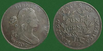 1802 Draped Bust Large Cent (XF 40) PCGS