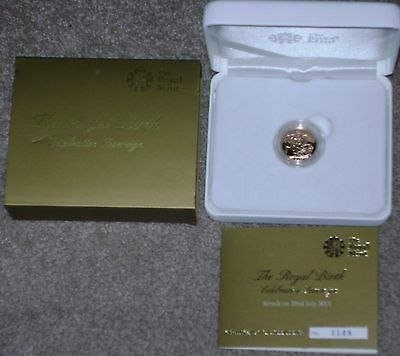 Day of the Royal Birth 2013 UK Proof Gold Sovereign Limited Edition w/Box & COA