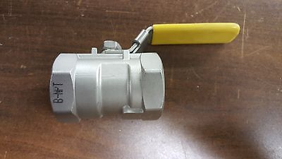 "TCI Stainless Steel  Ball Valve ( 1-1/4"" )-TC-01TK (800 WOG)"