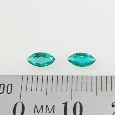 LOOSE BIRON EMERALDS x2 - Marquise Cut - 6 x 3mm - FREE POST