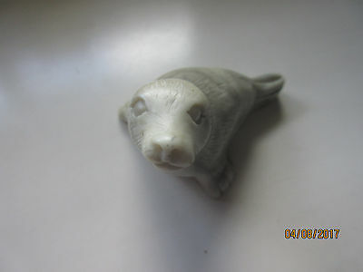 Carved Stone Grey Seal