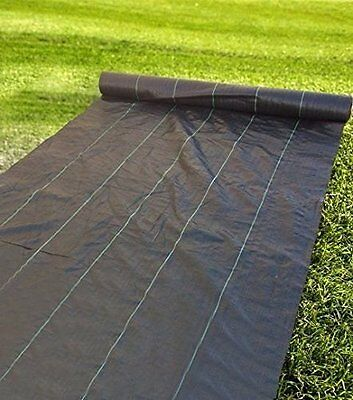 Agfabric 20 Years Ground Cover Heavy PP Woven Weed Barrier 3.0Oz  With 20 Pins