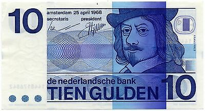 Netherlands 10 Gulden 1968 (P-91b) Sharp!