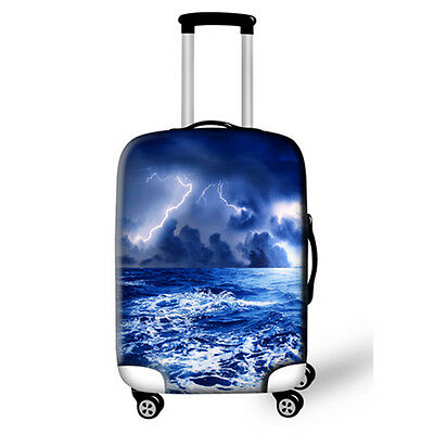 Suitcase Cover Spandex -  Blue Storm Image (Also available in other Designs)