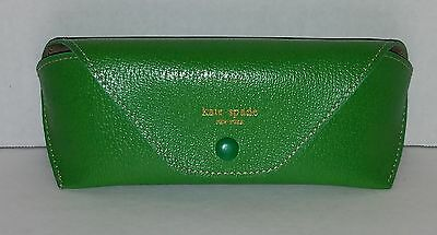 Green Kate Spade Eyeglass Glasses Case Faux Leather Envelope style sunglasses