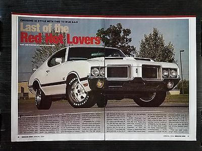 1972 Oldsmobile Olds 442 4-4-2 - 3 Page Article - Free Shipping