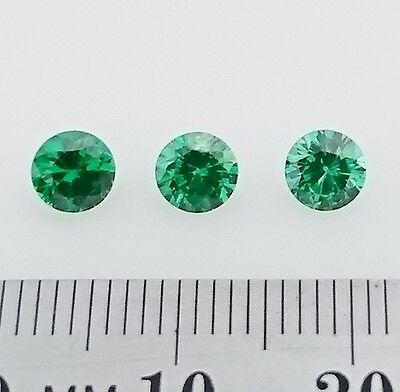 EMERALD Colored Gemstones - Mix of 5mm round cuts  x3 - FREE POST