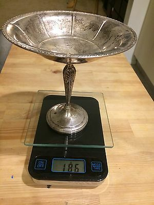 Vintage Weighted Sterling Silver Pedestal Compote Bon Bon Dish