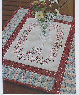 PATTERN - Daisybirds Tablerunner - pretty stitchery PATTERN - Gail Pan