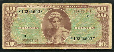 USA 1958, Military Payment Series 541, 10 Dollars, S857-1, Fine