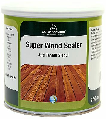 15,93€/L Super Wood Sealer Tannin Sperre Grundierung Shabby Kreidefarbe 750ml