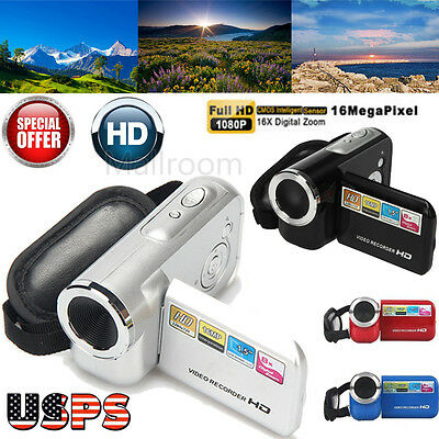 FHD 1080P 16M 16X TPT LCD Digital Zoom Video Recorder Camcorder Camera DV Cam US