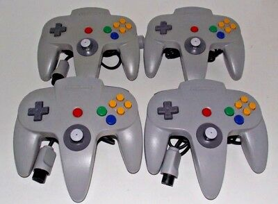 4 x Genuine Nintendo 64 N64 Grey Controller Refurbed Toggle (A Grade)