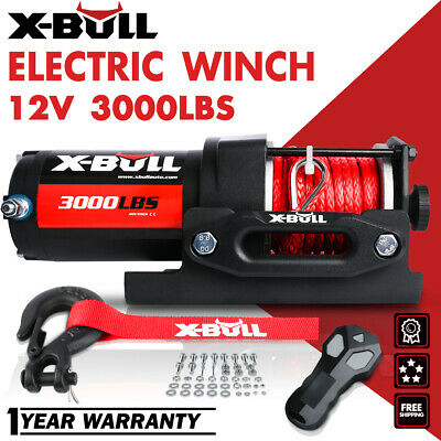 X-BULL 12V 4500LBS Electric Winch Towing Truck Steel Cable Off Road 4000LBS ATV