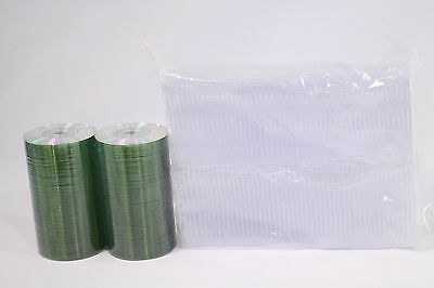 TWO 100 packs total 200 Mini CD-R 24 minute 210mb Blank Discs silver top + cases