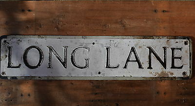 Vintage Street Sign old reclaimed industrial road advertising plaque cars auto