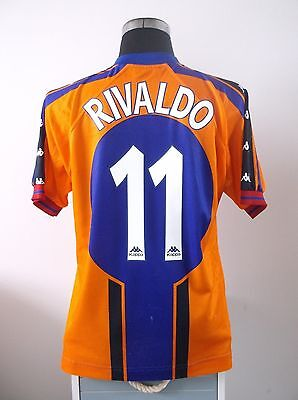 RIVALDO #11 Barcelona Away Football Shirt Jersey 1997/98 (M)