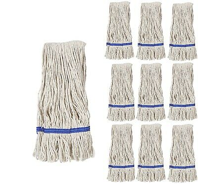 Kentucky Mop Head Large Cotton Lay Flat Professional Blue Banded Mop Heads