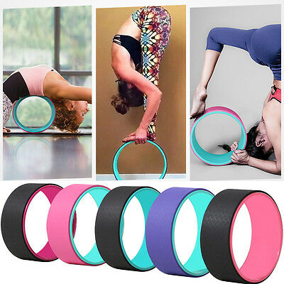 Yoga Wheel Pilates Balance Support TPE Cushion Extra Strength Backbends Prop