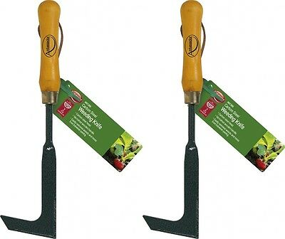 2 x Ambassador Carbon Steel Weeding Knife Garden Lawn Path Patio Paving Weeds