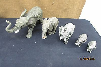 elephant figurine lot of 5 elephant collection