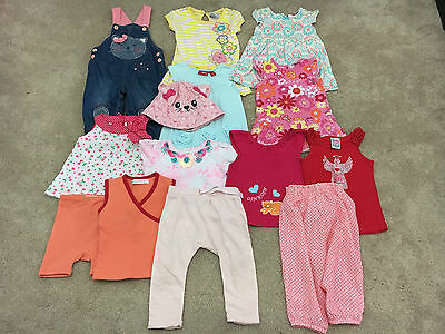 Baby Girl Mixed Clothing X 14 Items ~ Size 0 ~ 6 To 9 Months~Vgc