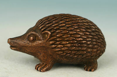 Collect red copper casting Microscopic Carvings Hedgehog Statue