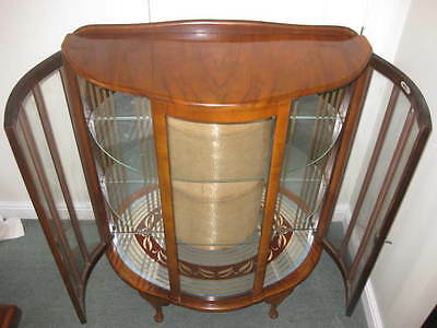Vintage 1950s Glass display cabinet by Barge Built of London