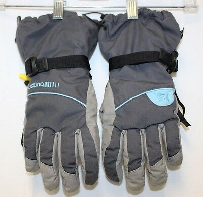 Burton Women's Black & Light Blue PROFILE GLOVES---Medium