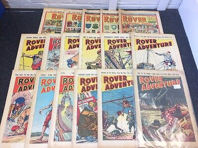 Job Lot - 17 Issues Of The Rover Comic - Years 1953,1954 & 1961 - All Graded