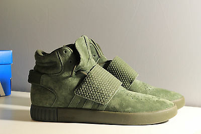 official photos 96f1c 523aa ... canada adidas tubular invader strap green new mens us size 9.5 1196f  9fcf4