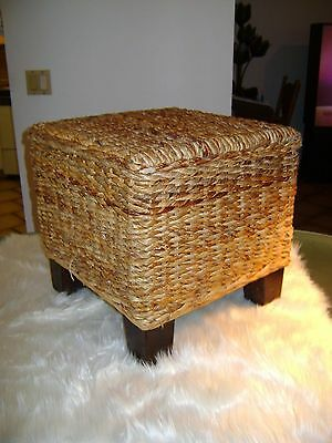 Foot Stool.....wicker...