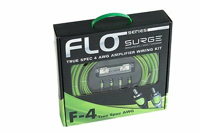 Atrend F-4 Surge F-4 Flo Series Amp Installation Kit [4 Gauge, 2,000 Watts] (f4)