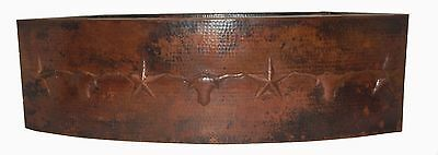 Apron Front Farmhouse Kitchen Mexican Copper Bull Stars Thorns Sink #20