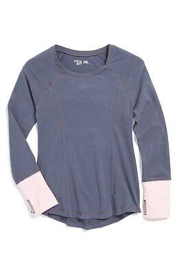 Youth Girl's Zella Cool Down Dance Top Grey Slate Size XL