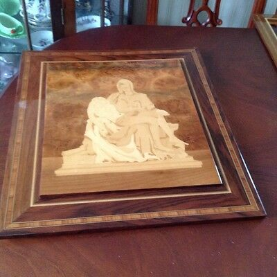wood marquetry picture The Pieta