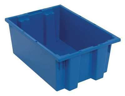 Nest and Stack Container, 19-1/2 in, Blue QUANTUM STORAGE SYSTEMS SNT200BL