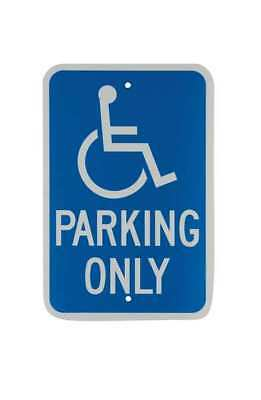 CA Parking Sign,18 x 12In,WHT/BL,HDCP