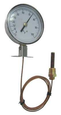 12U605 Analog Panel Mt Thermometer, 0 to 160F