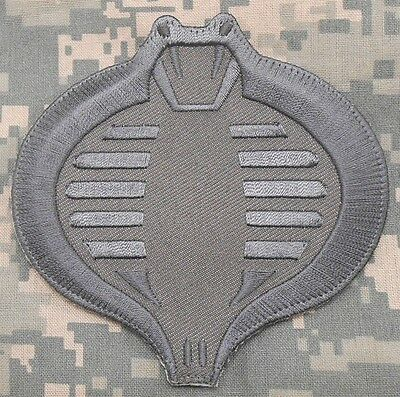 Cobra Gi Joe Usa Army Tactical Military Combat Morale Badge Acu Hook Patch
