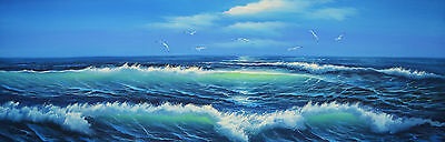 60*180cm Large Framed Originals Canvas Oil Painting Wall Art Ready to hang