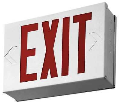 LITHONIA LIGHTING LX W 3 R EL N ACUITY LITHONIA Steel LED Exit Sign with