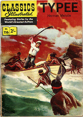 Classics Illustrated TYPEE Herman Melville 36 VERY RARE UK 116 interior-a 1961!